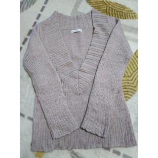 ローリーズファーム(LOWRYS FARM)の淡いパープルのセーター L(ニット/セーター)