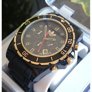アディダス(adidas)の(ノリダーマン様専用) ストックホルム ブラック×ゴールド ADH2906(腕時計(アナログ))