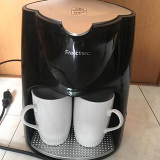 フランフラン(Francfranc)の【1回のみ使用の美品】Francfranc 2cupコーヒーメーカー(コーヒーメーカー)