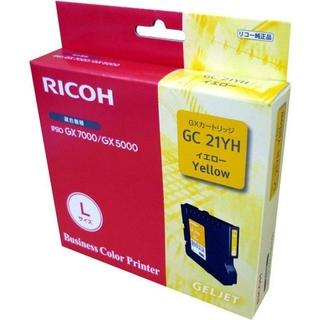 リコー(RICOH)のリコー 純正 インクカートリッジ GC21YH イエロー 使用推奨期限切れ(PC周辺機器)