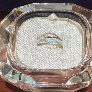 ヴァンドームアオヤマ(Vendome Aoyama)の超美品 ヴァンドーム青山 K10WG ダイヤモンド リング  サイズ1号 1g(リング(指輪))