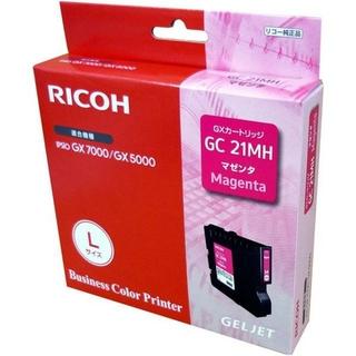 リコー(RICOH)のリコー 純正 インクカートリッジ GC21MH マゼンタ 使用推奨期限切れ(PC周辺機器)