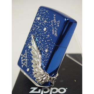 ジッポー(ZIPPO)の限定 Zippo ANGELS WINGS エンジェルウィング ブルー 青銀(タバコグッズ)