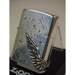 ジッポー(ZIPPO)の限定 Zippo ANGELS WINGS エンジェルウィング シルバー 銀(タバコグッズ)