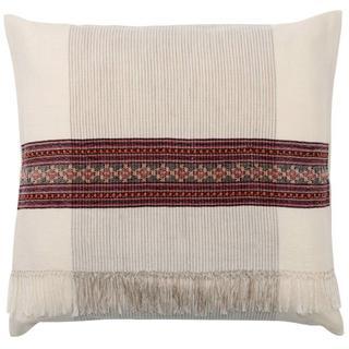 ムジルシリョウヒン(MUJI (無印良品))の無印良品 インドのパトゥ座布団カバー■55×59cm用 ウール素材 新品(クッションカバー)