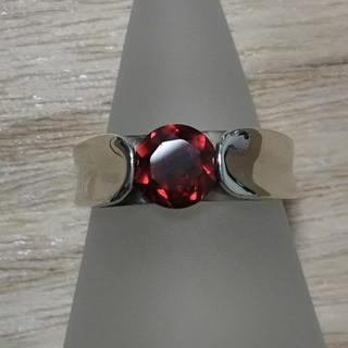 大人の赤✨ガーネット シルバー925リング[P187](リング(指輪))
