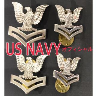 送料無料 US NAVY オフィシャル ユニフォーム ピンバッチ 4点セット(戦闘服)