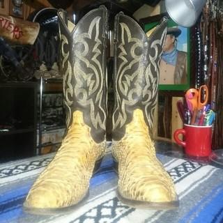 トニーラマ(Tony Lama)のトニーラマ 蛇革 パイソン ウエスタンブーツ アメリカ製(ブーツ)