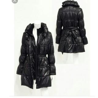 スペッチオ(SPECCHIO)のスペッチオ Wカラーゴムシャーリング中綿入りコート(ダウンコート)