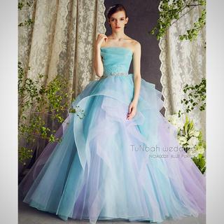 チュノアウェディング カラードレス ブルー&パープル5号 結婚式ブライダル(ウェディングドレス)