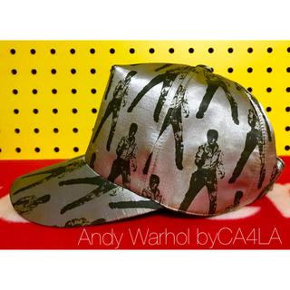 カシラ(CA4LA)のAndy Warhol byCA4LA エルビス柄 サテンキャップ(キャップ)