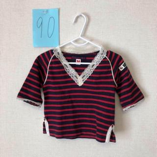 ナチュラルブー(Natural Boo)のナチュラルブー natural boo ボーダーカットソー90(Tシャツ/カットソー)