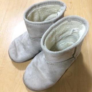 ムジルシリョウヒン(MUJI (無印良品))の無印 ムートンブーツ 16〜17センチ(ブーツ)