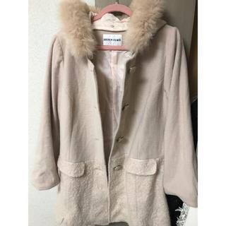 ペイトンプレイス(Peyton Place)のコート 大きいサイズ美品♡ピンクベージュかわいいPEYTON PLACE(毛皮/ファーコート)