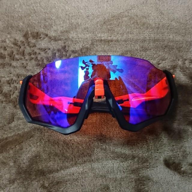 Oakley(オークリー)のオークリー フライトジャケット プリズムトレイル ブラック・オレンジ  スポーツ/アウトドアの自転車(ウエア)の商品写真