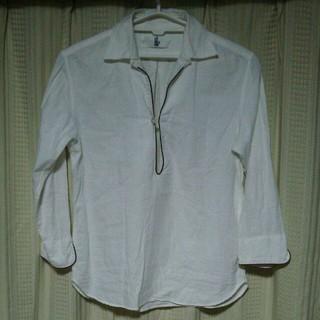 ドゥニーム(DENIME)のdenime プルオーバーシャツ Mサイズ アメカジ 無地 シンプル 古着屋 服(シャツ)