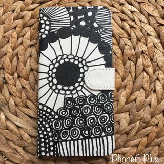 マリメッコ(marimekko)のiPhone6 Plus ハンドメイド マリメッコ 手帳携帯ケース(iPhoneケース)