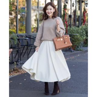 チェスティ(Chesty)のOBLI フレアスカート ホワイト Sサイズ(ロングスカート)