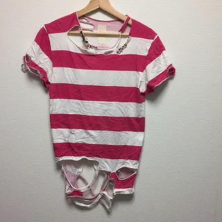 ノゾミイシグロ(NOZOMI ISHIGURO)のNOZOMI ISHIGURO ビーズTシャツ(Tシャツ/カットソー(半袖/袖なし))