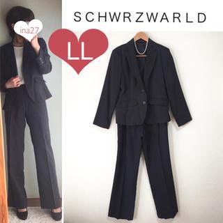 シマムラ(しまむら)の美品 通年用 ストライプ ジャケット パンツ スーツ サイズLL(スーツ)