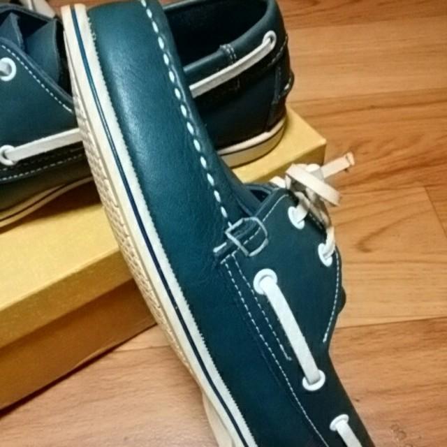 REGAL(リーガル)の美品リーガル スリッポン デッキシューズ 23㎝ レザーネイビータッセル付 レディースの靴/シューズ(スリッポン/モカシン)の商品写真