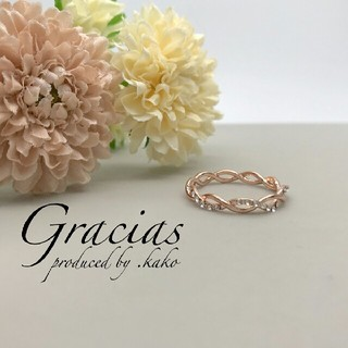 幸せお洒落指輪♥価格も輝きも品質も満足リング ピンクゴールド(リング(指輪))