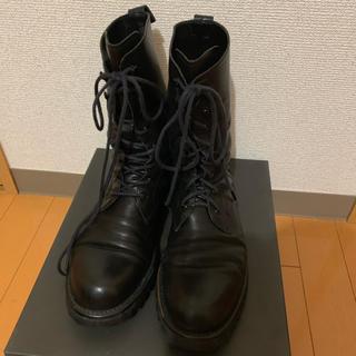 エディション(Edition)のEdition/padrone ミリタリーブーツ/ブラック(ブーツ)