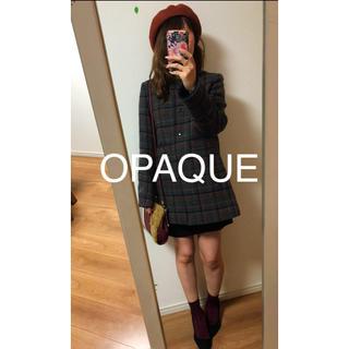 オペーク(OPAQUE)の☆OPAQUE☆オペーク  ノーカラーチェックコート(ロングコート)
