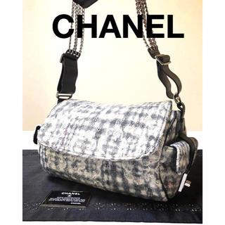 1523df3b3bf8 シャネル(CHANEL)のシャネル カメリア ツィード チェーンバッグ(ショルダーバッグ)