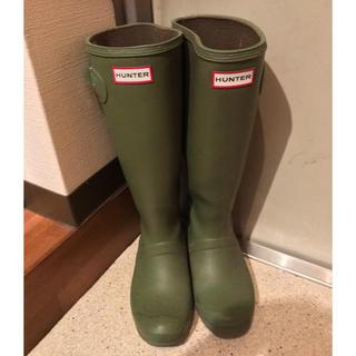 ハンター(HUNTER)のHUNTERのモスグリーン長靴(レインブーツ/長靴)
