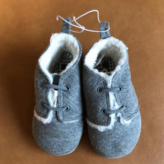 ディズニー(Disney)のディズニー  ミッキーマウスもこもこブーツ、靴  14センチ グレー(ブーツ)