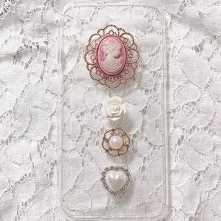 ピンクカメオiPhoneケース(スマホケース)