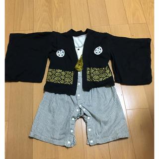フーセンウサギ(Fusen-Usagi)の袴 ロンパース 男の子 90(和服/着物)