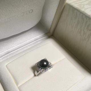 ミキモト(MIKIMOTO)の【ののの様専用】ミキモトパールリング ダイヤ0.49ctパール9.7mm(リング(指輪))
