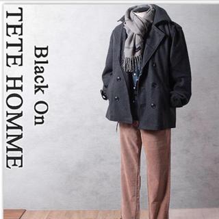 テットオム(TETE HOMME)の新品 Black on テットオム  ショート丈 ピーコート 定29.000円 (ピーコート)