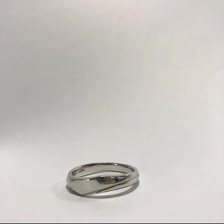 ニワカ(俄)のLUCIE(俄)プラチナリング Pt950 ♯18.0 18号 ブルーダイヤ付き(リング(指輪))