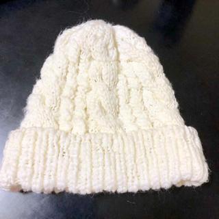 シマムラ(しまむら)の⭐️白ニット帽⭐️(ニット帽/ビーニー)