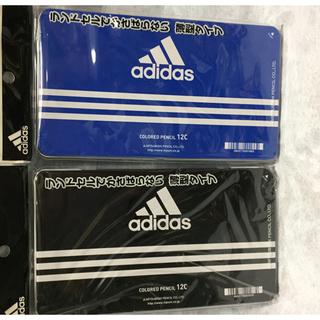 アディダス(adidas)のアディダス adidas 色鉛筆   12色セット 三菱鉛筆 黒 青 1ケース(色鉛筆)