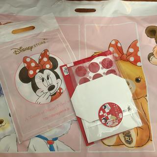 ディズニー(Disney)の非売品 ディズニーストア ギフトボックス&袋大小2枚(ラッピング/包装)
