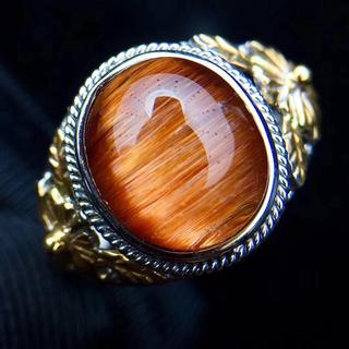 天然ルチルクオーツリング k18(リング(指輪))