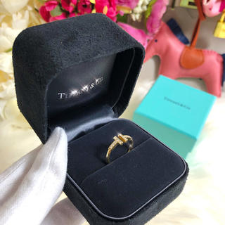 ティファニー(Tiffany & Co.)の❤️新品仕上げ❤️ ティファニー ダイヤ Tワイヤー リング 指輪 7号(リング(指輪))