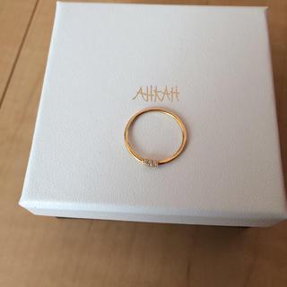 アーカー(AHKAH)のAHKAH ホワイトナイトファインリング(リング(指輪))