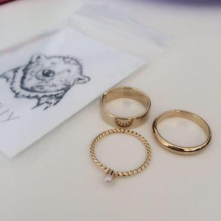 ケービーエフ(KBF)のSMELLY/3リングセット(リング(指輪))