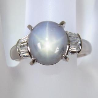 Pt900 スターサファイア ダイヤモンド リング 11.5号[f344-2] (リング(指輪))
