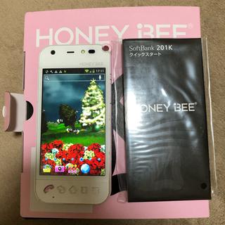 ハニービー(HONEY BEE)のソフトバンク プリペイド携帯 スマホ(スマートフォン本体)