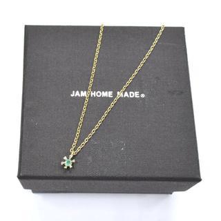 ジャムホームメイドアンドレディメイド(JAM HOME MADE & ready made)の未使用 箱付 JAM HOME MADE エメラルド シャトン ネックレス 緑(ネックレス)