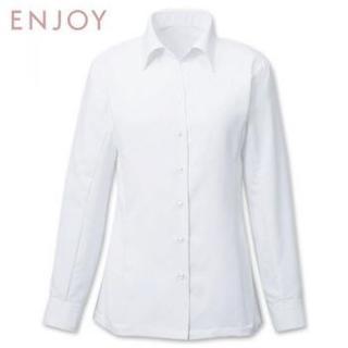 エンジョイ(enjoi)の【新品】11号 enjoy 制服/事務服  ブラウス  ホワイト(シャツ/ブラウス(長袖/七分))