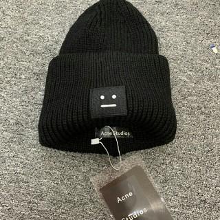 アクネ(ACNE)のACNE アクネ ブラック ニット帽子(ニット帽/ビーニー)