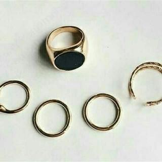 早いもの勝ち 5個セット⭐存在感ありデザインリング ゴールド(リング(指輪))