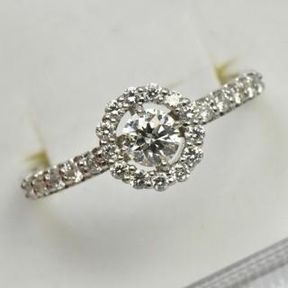 専用です Pt900 プラチナ 一粒 0.315ct ダイヤリング 15号 指輪(リング(指輪))
